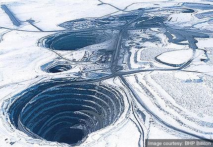 Ekati Diamond Mine Blasting